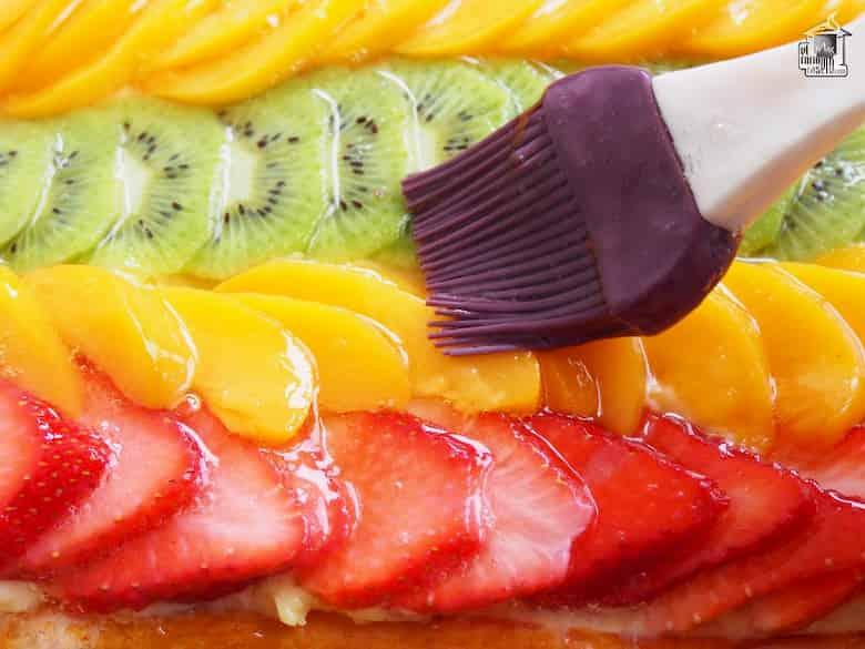 como dar brillo para pasteles