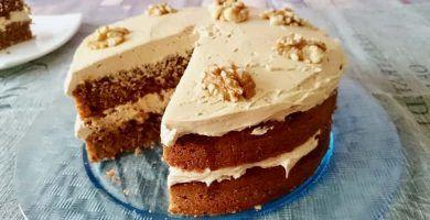 receta de pastel de cafe con nueces