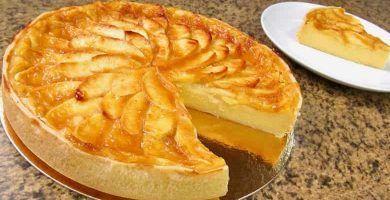 como hacer pastel de manzana