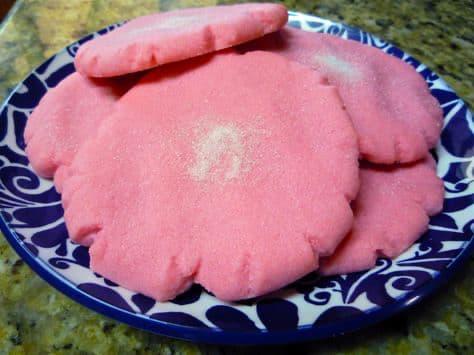 receta de polvorones rosas