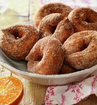 receta de cosquillas con naranja y canela