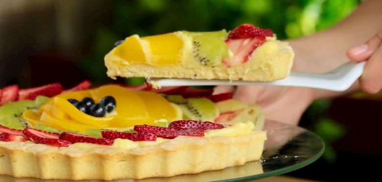 receta de tarta de frutas y crema pastelera