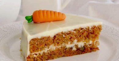 receta de tarta de zanahoria y crema