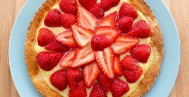 tarta de fresa y crema