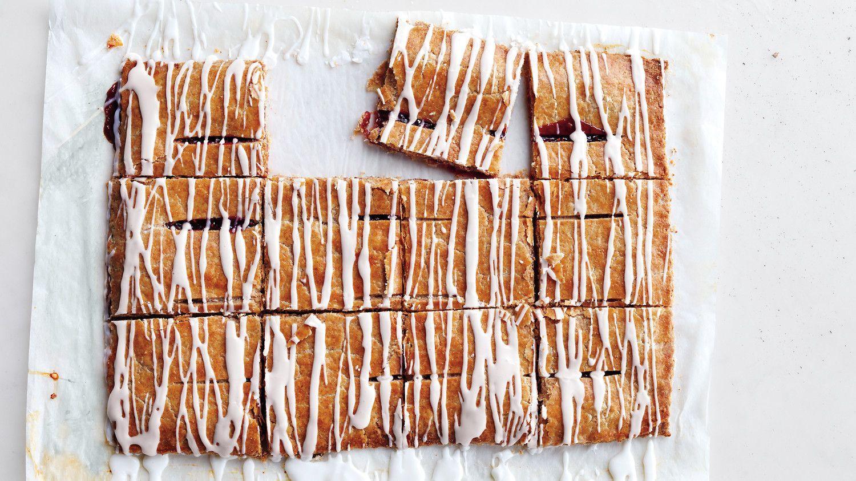 cuadritos de mermelada con receta a base de harina integral