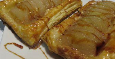 receta de albondigas de pera y chocolate con hojaldre