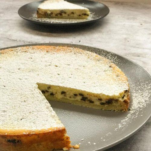 receta de tarta de ricotta y chispas de chocolate
