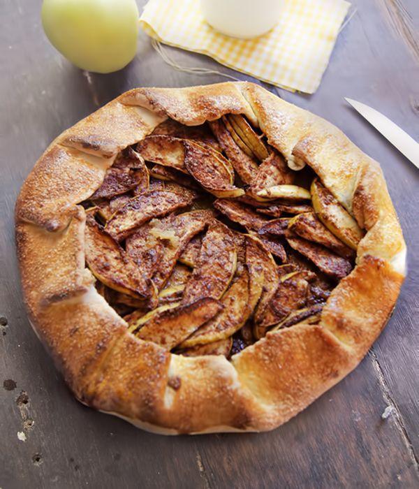 receta rustica de tarta de manzana