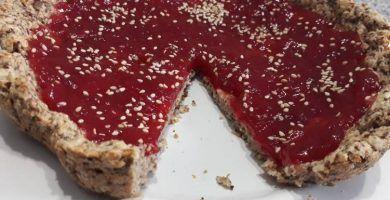 tarta de alforfon y mermelada receta